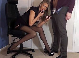 Blowjob blond