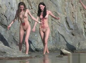 Naked teens on beach