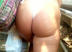 Fat ass in thong
